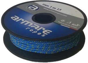 15m Spool 1mm Kevlar blue